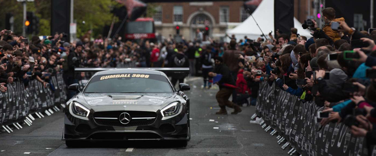 Gumball 3000 announcing its passage through Montenegro